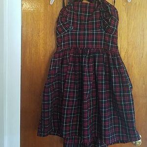 Plaid halter summer dress